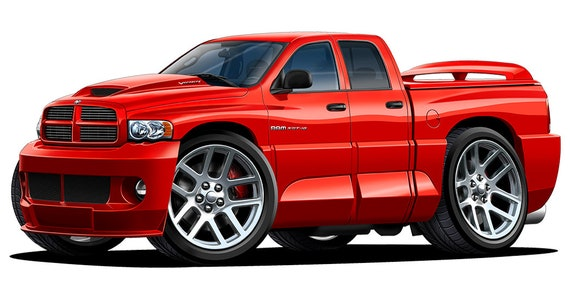 Dodge Ram 1500 SRT-10 Wall Decal Sticker Poster Graphic Any Color # Large Sizes