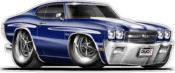 muscle car wall decal 1970 chevy chevelle fathom car photo | etsy