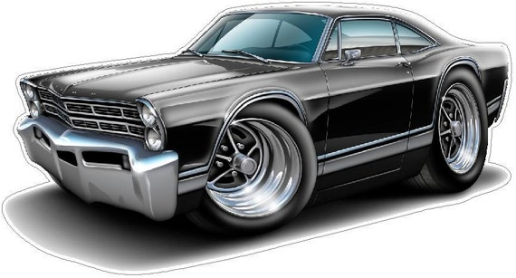 1967 Ford Galaxie Wall  Sticker Graphic Poster Decal Man Cave Boys Room Cling