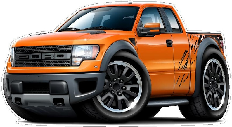 2010-2013 Ford Raptor Truck 4x4 vinyl decal wall graphic officially  licensed product, custom art easy installation on walls, windows, etc