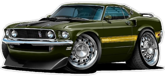My other car is Ford Mustang decal sticker classic vintage muscle car 1969 vinyl