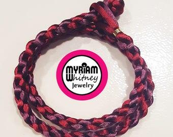 4mm handmade knot silk cord necklace 15 green 13607