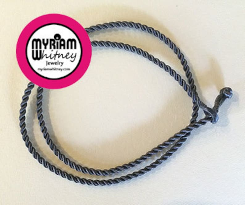 Dark Gray Silk Cord Necklace for Pendant and Jewelry  Dark image 0