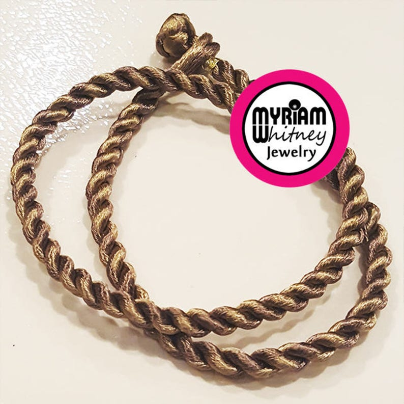 Two Tone Antique Gold Silk Cord Necklace for Pendant Jewelry  image 0
