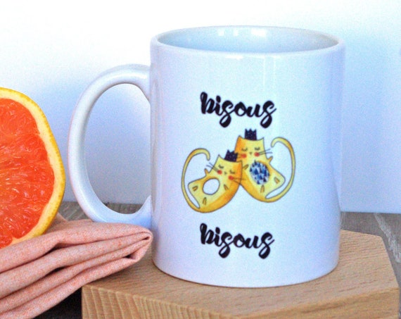 Cat Mug Bisous Bisous French Design - Friendship Mug