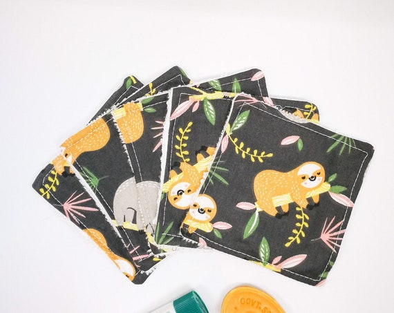 Pack of Africa Print Cottons Reusable Washable Baby Wipes for Baby or Woman - Zero Waste Home