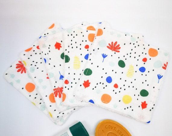 Mix Japanese Cottons Scandinavian Design Washable Reusable Cottons- Zero Waste Home