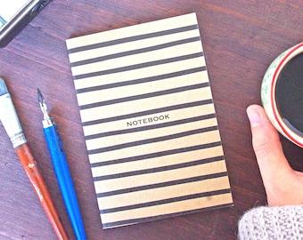 French Marinière Notebook Kraft A6 - Bullet Journal