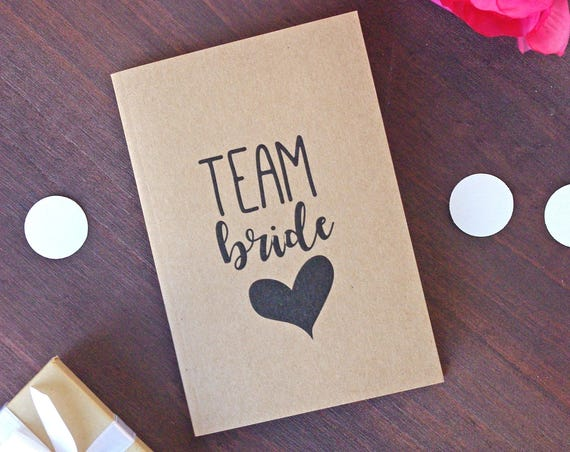 Team Bride Notebook Kraft A6 - Bridesmaids Bullet Journal
