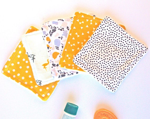 Mix Mustard Washable Reusable Cottons- Zero Waste Home