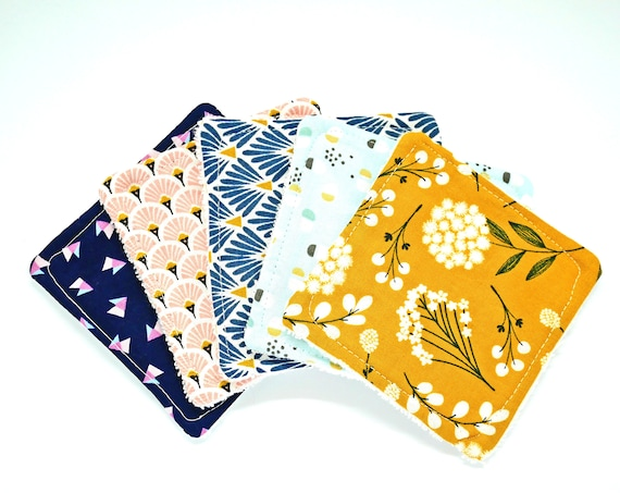 Mix Japanese Cottons Scandinavian Design Washable Reusable Cottons- Zero Waste Home