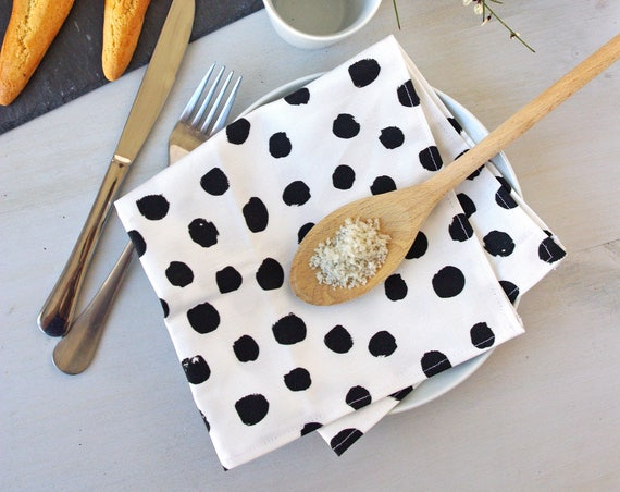 Linen Cotton Cloth Napkin - Modern Napkin - Zero Waste Home