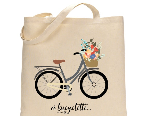 Bicycle French Totebag - Cotton Bag