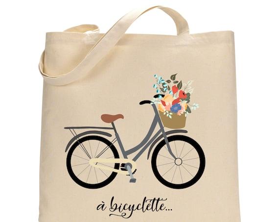 Bicycle French Totebag - Cotton Bag