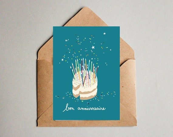 Carte d'anniversaire Gâteau