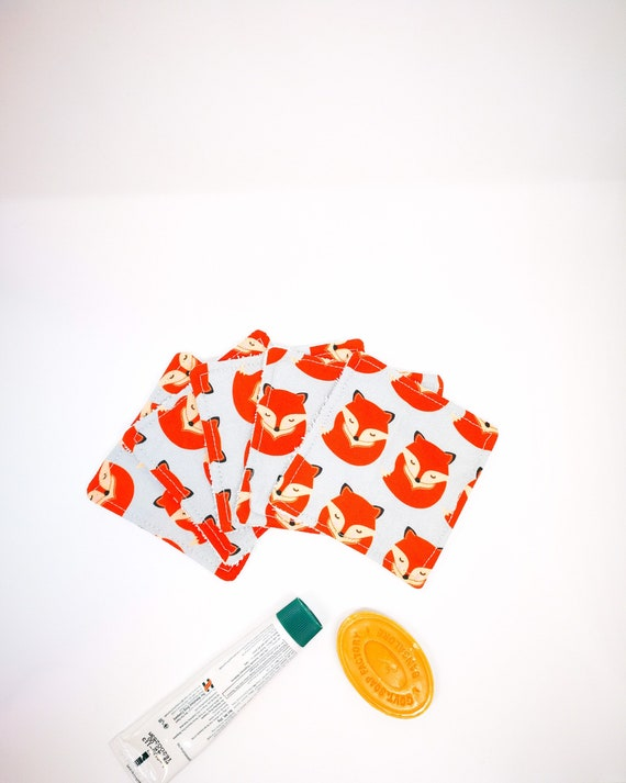 Pack of Fox Cottons Reusable Washable Baby Wipes for Baby or Woman - Zero Waste Home