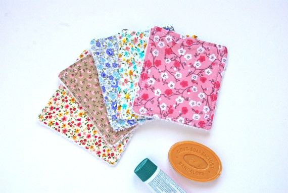 Organic Liberty Washable Baby Wipes for Baby or Woman - Reusable Cotton - Zero waste Home