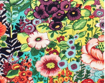 Folklorico Flores de Coyoacan Chartreuse (light green/yellow) 100% Cotton Fabric, similar flowers as Frida La Catrina by Alexander Henry