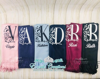 Personalized Pashmina Scarf - Pashmina Cashmere - Pashmina Scarf Woman - Personalized Gifts Ideas - Monogrammed - Mother's Day Gift