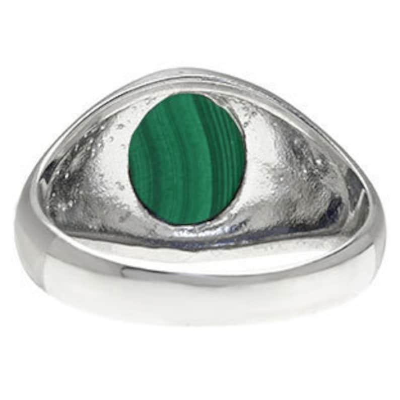Oval-Cut Malachite Stone Custom Men/'s Pinky Ring In White Rose Yellow Black Gold Silver Mens Gemstone Malachite Gold Ring Malachite Men Ring