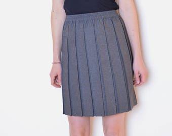 6ff3b3d672 90's gray pleated skirt, school uniform skirt, schoolgirl skirt, preppy  skirt, gray mini skirt, lolita skirt, British vintage