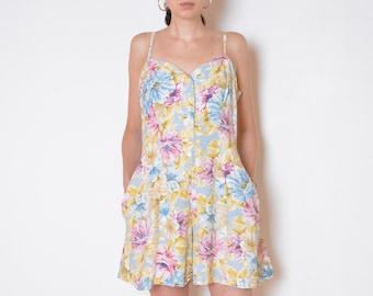 d25190ace27 90 s pastel flowers jumpsuit