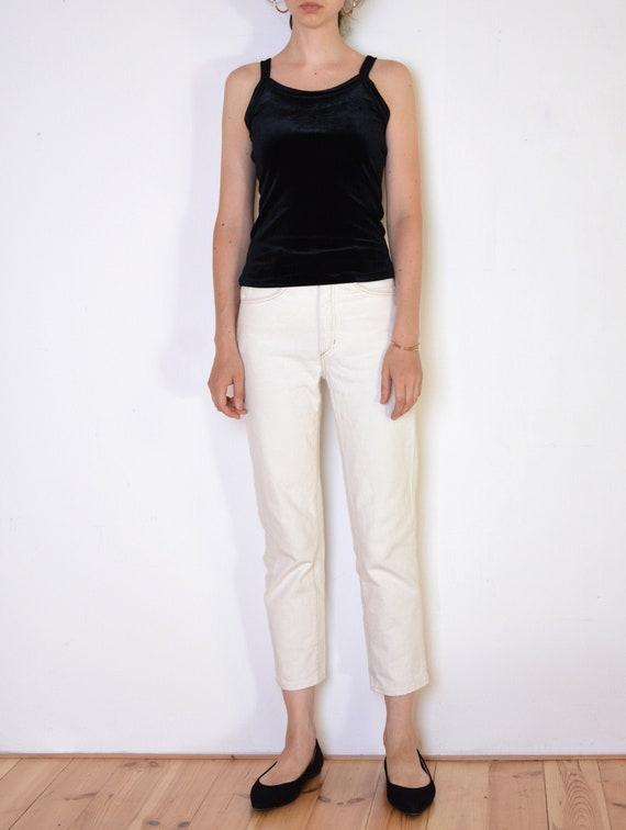 90's black velvet top, strappy blouse, grunge top,