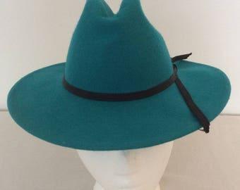 Rockmount Ranch Wear Vintage Blue Felt Cowboy Hat Style 264 Unisex Size  Small Denver Colorado 93331cdb2c53