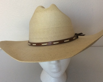 4c4b77b7f8f Resistol Size 7 1 4 Mens Cowboy Western Hat Mexican Palm Jason Aldean