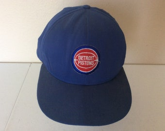 ecb96d61 Detroit Pistons Vintage Small Logo Blue Snapback Hat American Workers