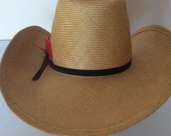 "6c422a3015f20 Artel Vintage 70s 80s Straw Western Cowboy Hat ""A Hat With Pedigree"""