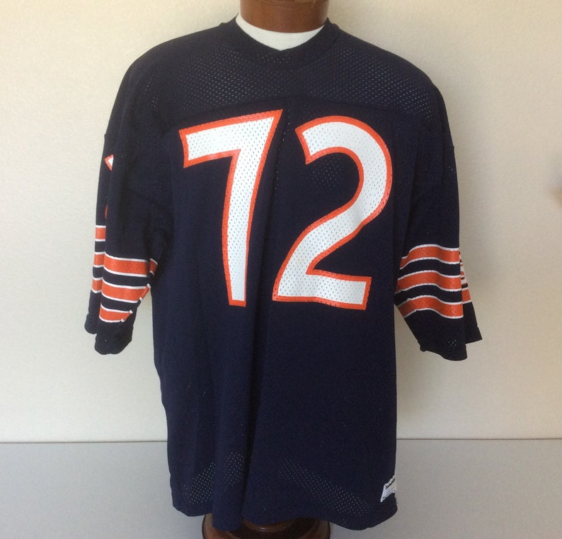 online store ce682 3a238 Vintage Macgregor Sand Knit Chicago Bears #72 Football Jersey Blue GSH 2XL