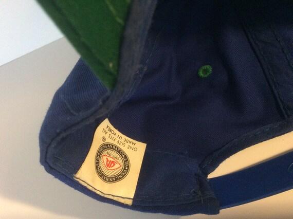 Vintage 1980s Seattle Seahawks Snapback Hat Blue … - image 10