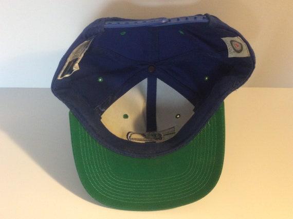 Vintage 1980s Seattle Seahawks Snapback Hat Blue … - image 7