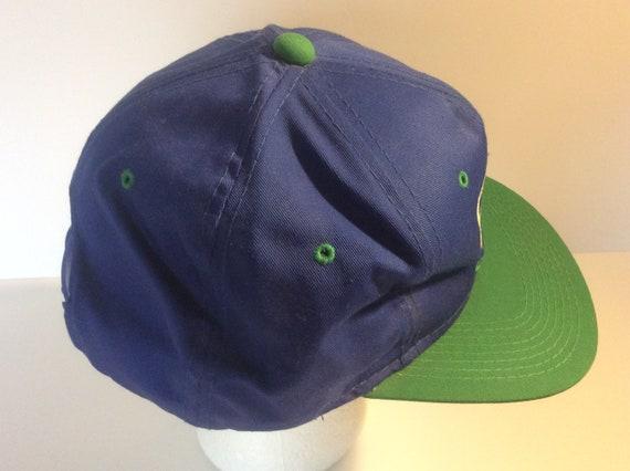 Vintage 1980s Seattle Seahawks Snapback Hat Blue … - image 4