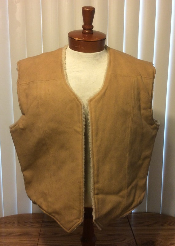 Vintage Frostline Kit Vest Faux Leather/Sherpa Men