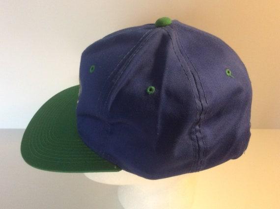 Vintage 1980s Seattle Seahawks Snapback Hat Blue … - image 2