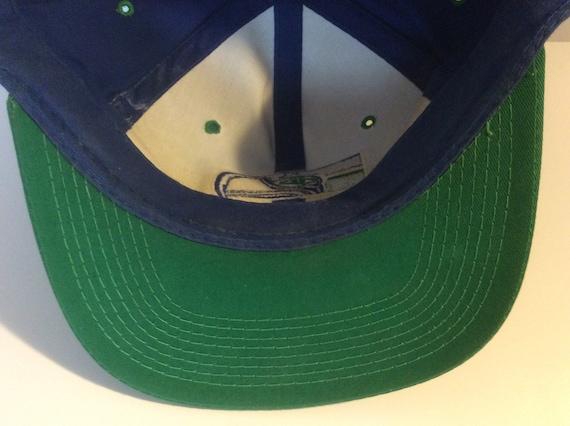 Vintage 1980s Seattle Seahawks Snapback Hat Blue … - image 8