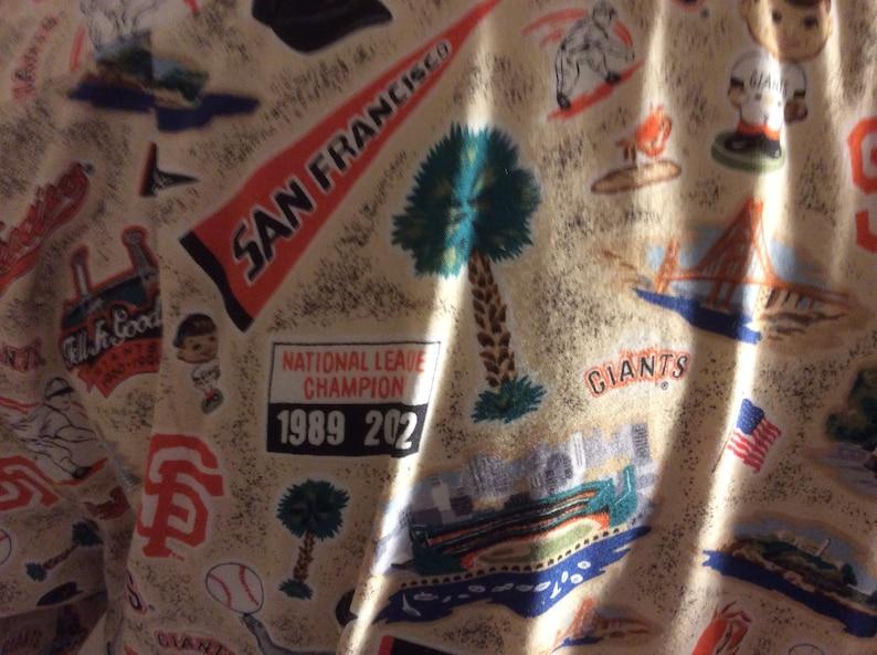 Reyn Spooner Vintage San Francisco Giants Pennant Winner Hawaiian Shirt Mens Size Large