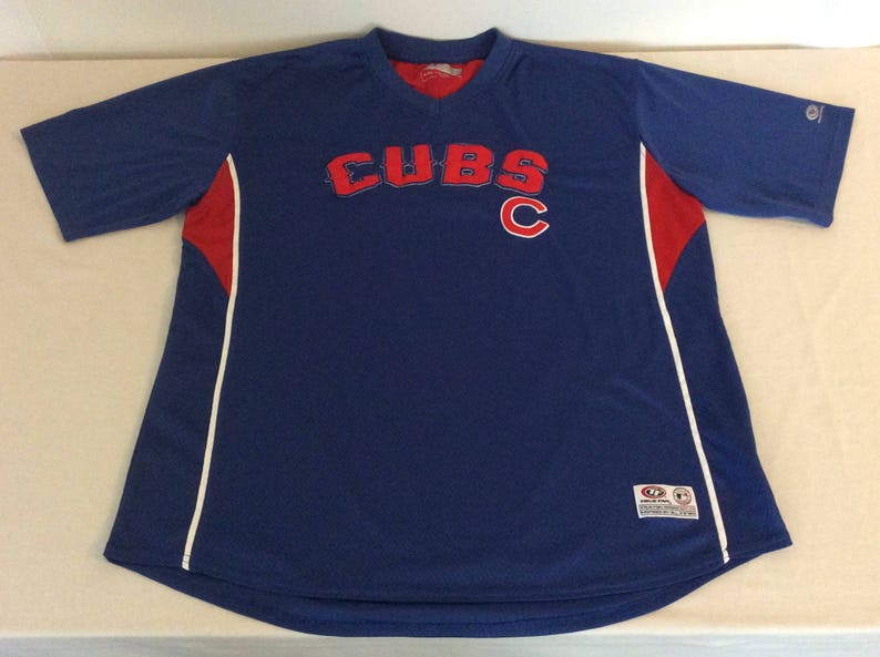 new products 0f9a1 9b2ba Chicago Cubs Mens XL Vintage Sewn Letter Baseball Jersey Blue Pullover Tru  Fan