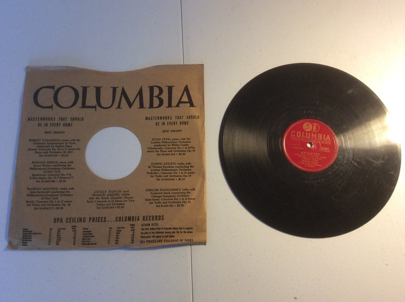 Xavier Cugat Thanks For The Dream / Bim Bam Bum Columbia 36681 78 RPM Record