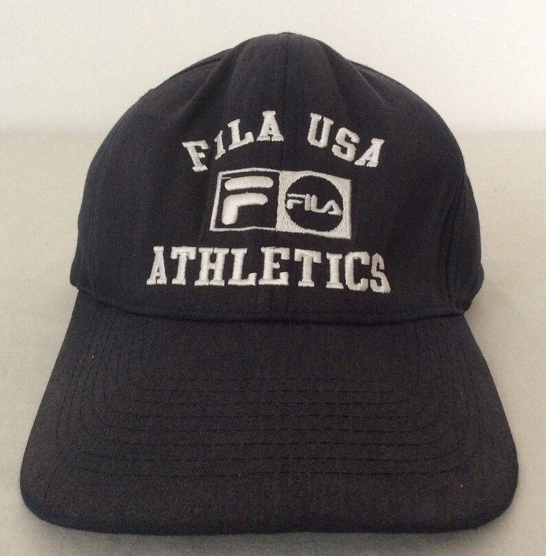 0dc94d780a3 Fila USA Athletics Vintage SnapBack Hat Blue Embroidered Logo
