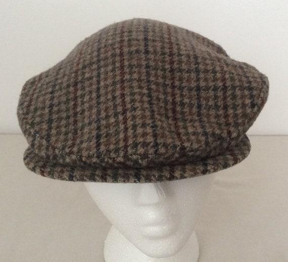 15afe9e22c1 Pendleton 100% Wool Houndstooth Tweed Newsboy Cabbie Hat Size