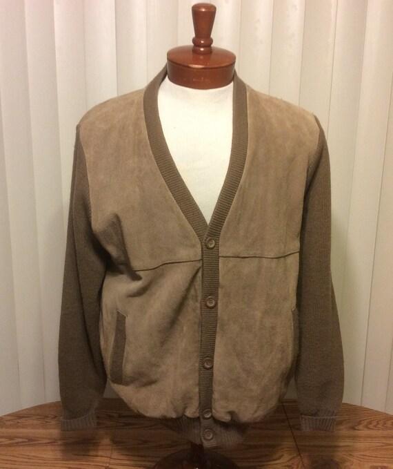 Vintage Mervyn's Rockabilly Suede Leather Acrylic
