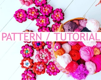 USA/UK Pattern/Tutorial Lotus Flower and many variations