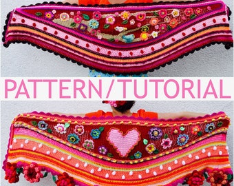 UK/USA ES Tutorial/Pattern how to design and crochet a #polleviewrap