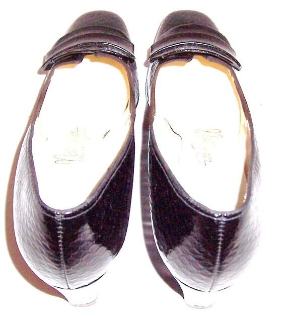 sup Vintage chaussure noir Naturalizer Mesdames 0pRwxIp