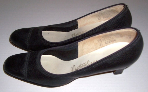 Vintage AAAA mince 5 Naturalizer Fit chaussures 7 cuir taille noir Ladies en dxPa1wCP