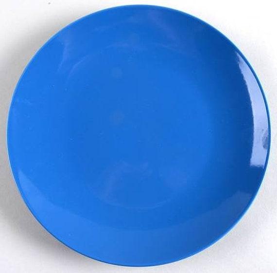 IKEA Side Plate 8 5/8\'\' in Fargrik Blue Gloss Color by | Etsy