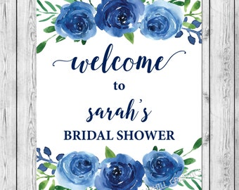 bridal shower welcome sign welcome to bridal shower sign printable blue bridal shower sign bridal shower decorations bridal shower decor